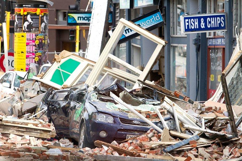 Фото дня: землетрясение в новозеландском Крайстчерче
