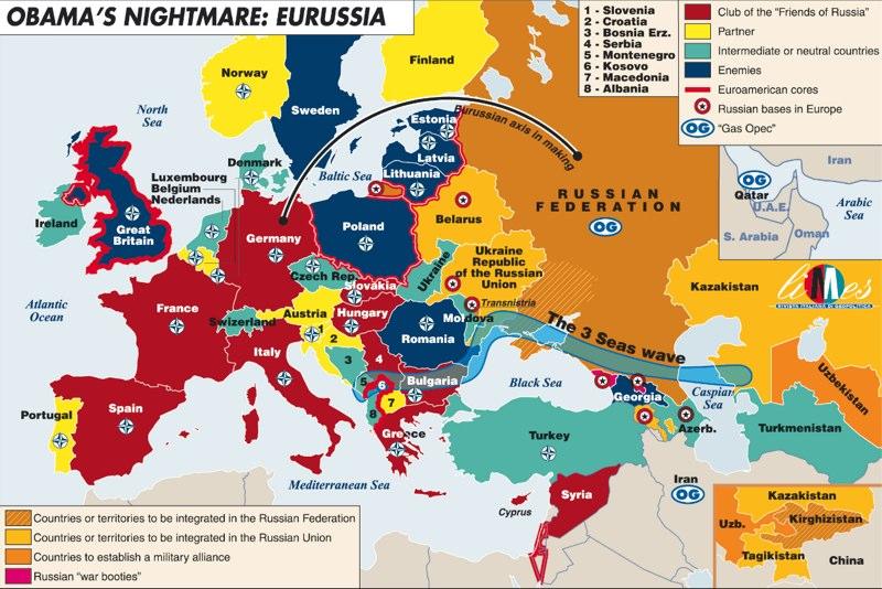 Карта дня: Европейский клуб друзей и врагов России