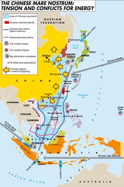 Китай - энергетические конфликты - карты и схемы - Фотоальбомы - Логистические истории.