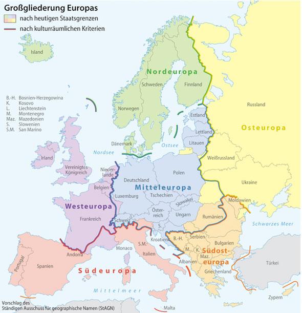 Карта дня: где начинается Восточная Европа?