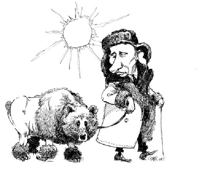 Медведев на западных карикатурах и детских рисунках