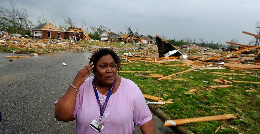 Фото недели: следы супер-торнадо в США