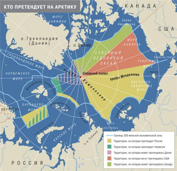 Северный полюс может стать датским