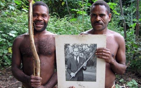 На Вануату английский принц Филипп объявлен Богом