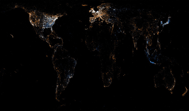 Картограмма дня: Европа и США продолжают оставаться «центром мира»