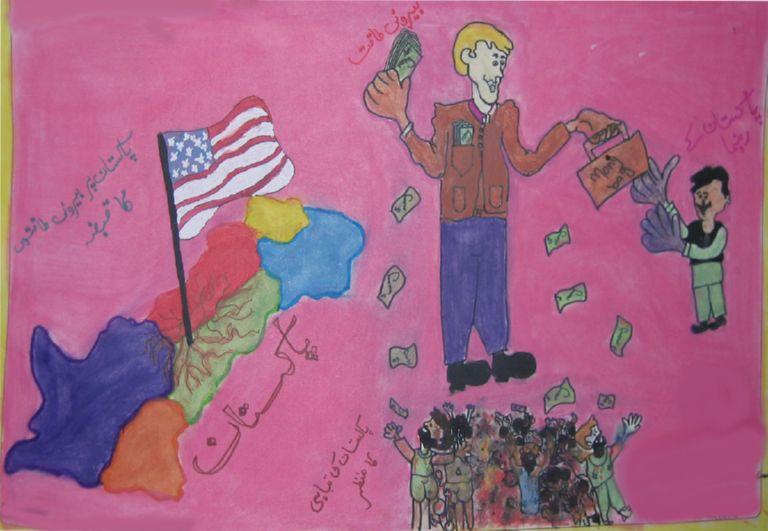 В Пакистане борются с коррупцией детскими рисунками