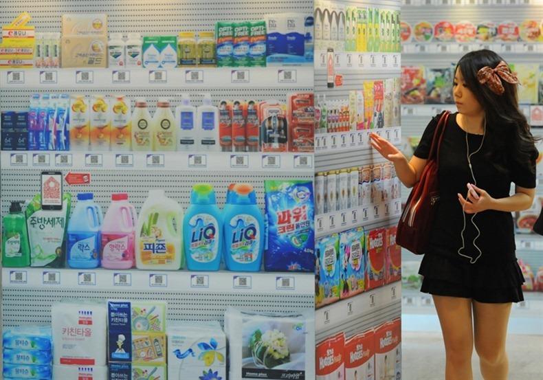 «Утконос» по-корейски: виртуальный супермаркет в Сеуле