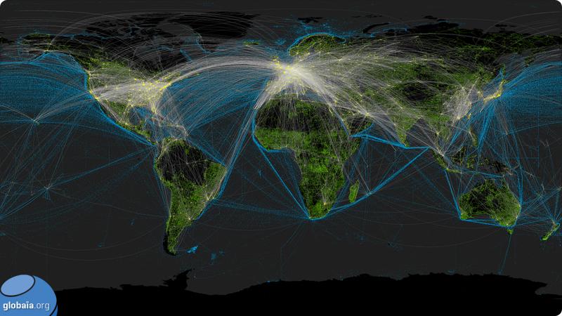 Общая транспортная карта Земли