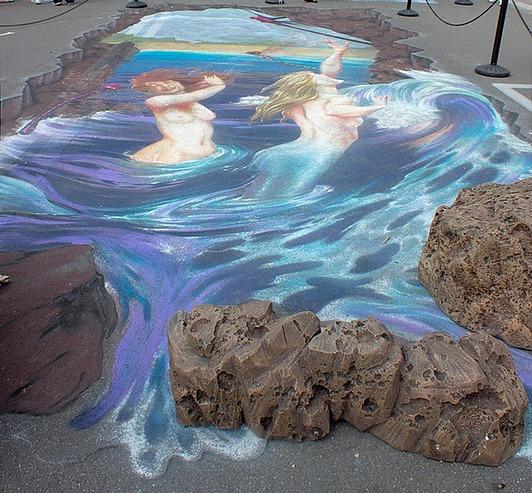 Фестиваль рисунков на асфальте во Флориде