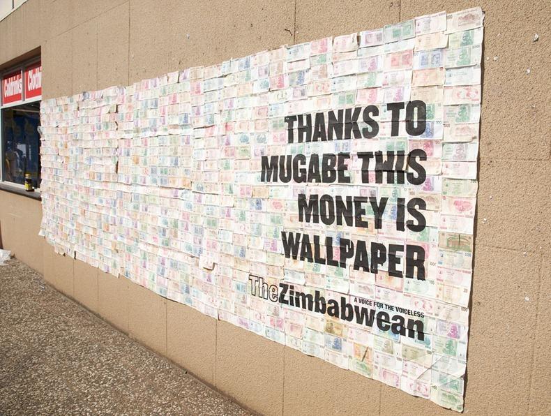 Забавная нумизматика в Зимбабве