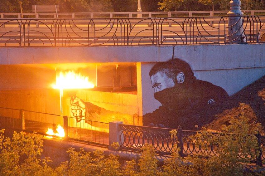 В России появился аналог Banksy