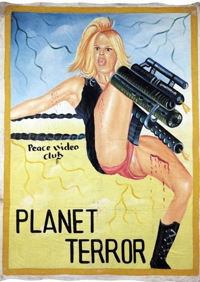 Рекламные постеры западных фильмов в Гане