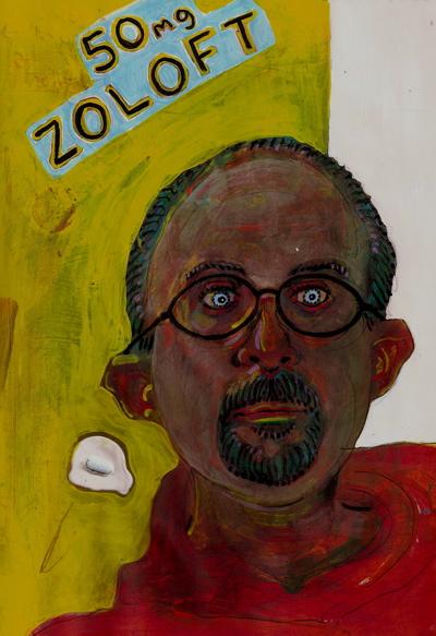 Автопортреты художника под разными видами наркотиков
