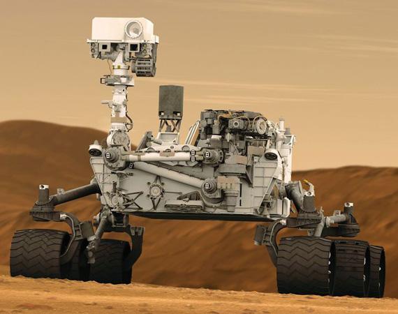 Марсоход Curiosity добрался до Красной планеты