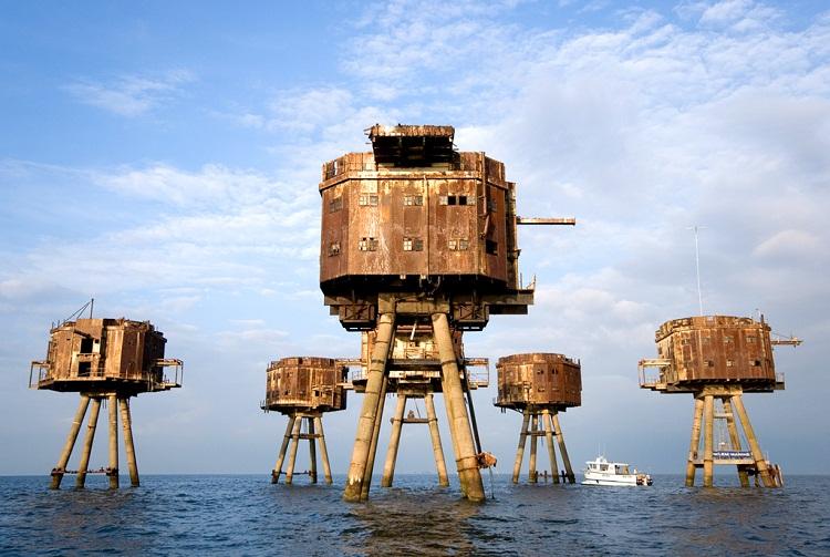 Вторая жизнь морских фортов у побережья Англии