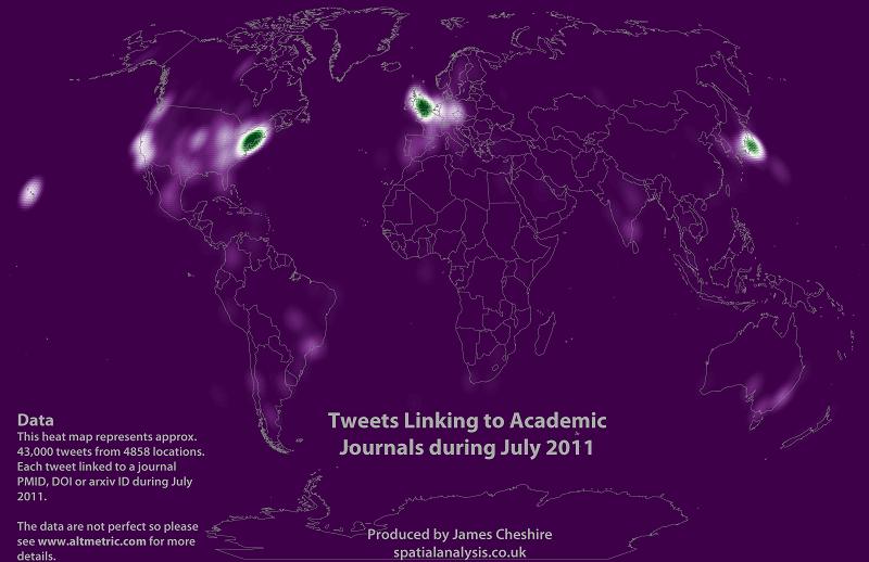 Карта дня: визуализация научных публикаций