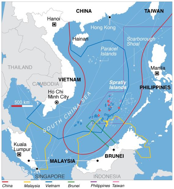 Карта дня: Южно-Китайское море – война всех против всех