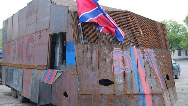 Самодельные бронемашины украинских батальонов и ополченцев Донбасса