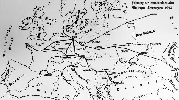 (Карта скоростных железных