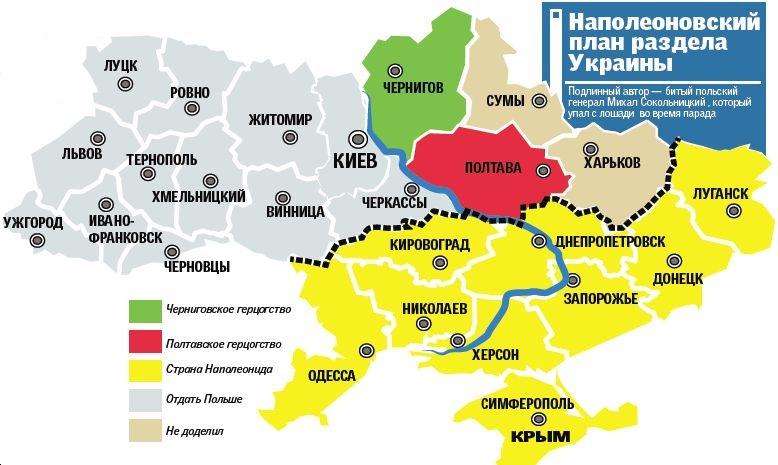 Как Наполеон хотел разделить Украину