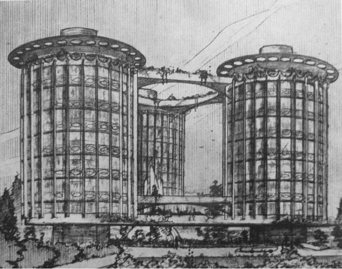 Круглый советский дом Абрама Иоффе на 1 млн. человек