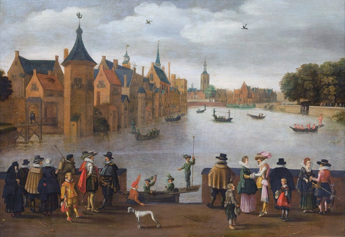 Joust on the Hofvijver *oil on panel *65,5 x 92,6 cm *ca. 1625