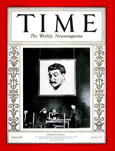 Time, 1930 год: Сталин нужен Америке для успешного бизнеса