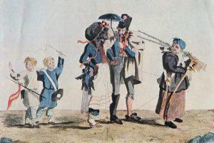 А.Г. Венецианов. Французские гвардейцы под конвоем бабушки Спиридоновны. 1813 г.