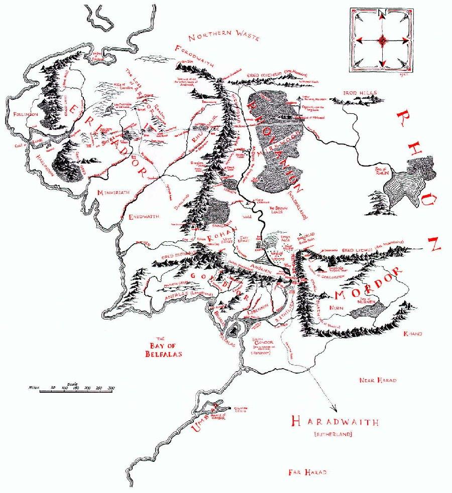 Властелин колец - две крепости